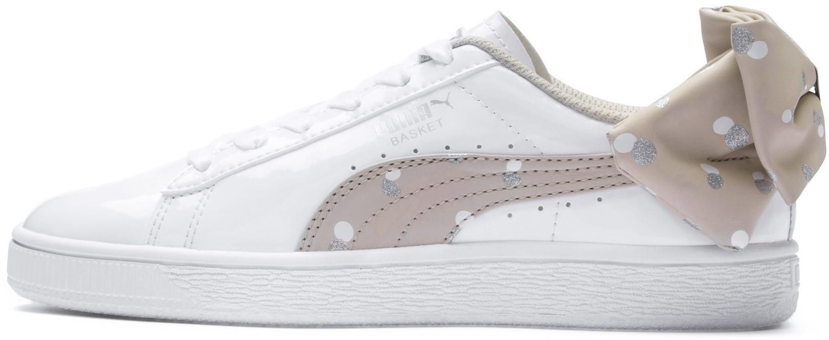 8e62cd9c7 Puma Shoes Juniors Girls Basket Bow Dots White | Sportsman24